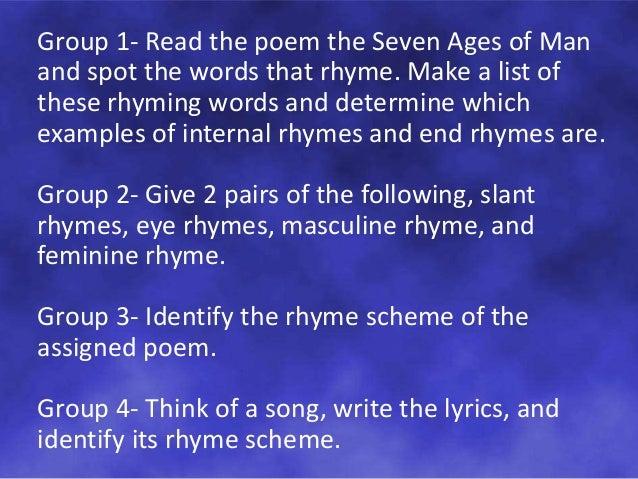 Rhyme Scheme In Poetry