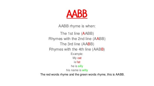 how to write a rhyme scheme poem