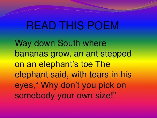 Printables Poem Rhyming Words rhyming words slideshare with the same ending letters table stable 4 read this poem