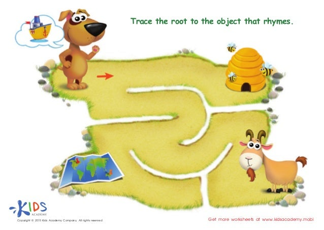 FREE Rhyming words worksheets