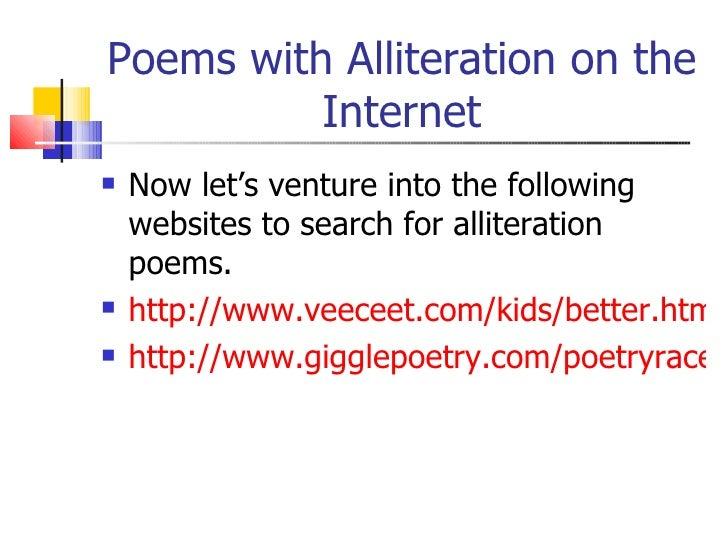 Alliteration Poems - Bing images
