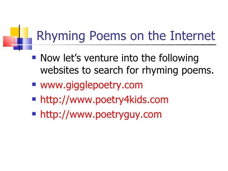Rhythm, rhyme and alliteration