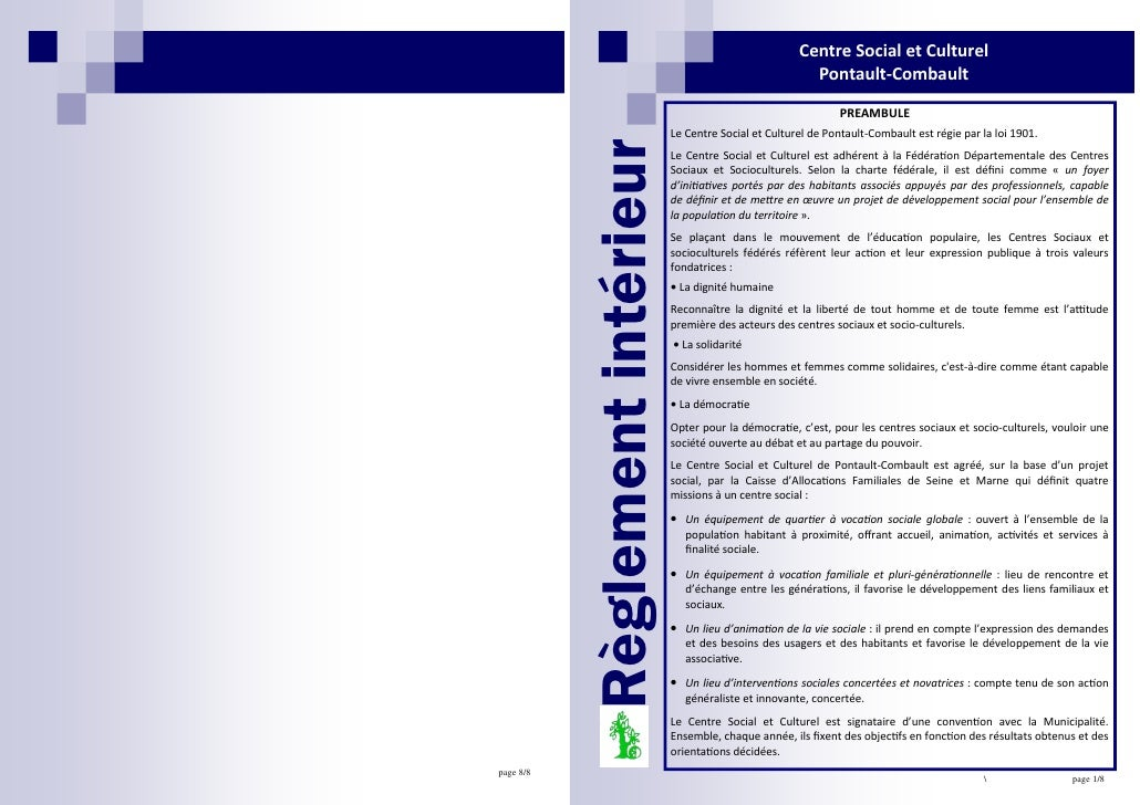 Centre Social et Culturel                                                             Pontault-Combault                   ...