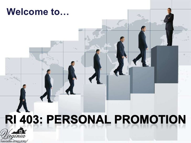 Welcome to…<br />RI 403: Personal Promotion<br />
