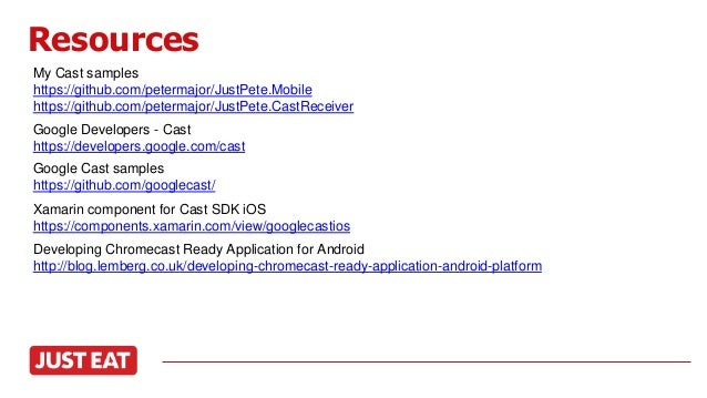 Google Cast for iOS and Android using Xamarin