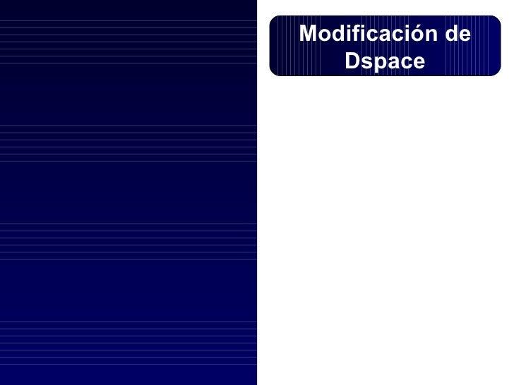 Modificación de Dspace