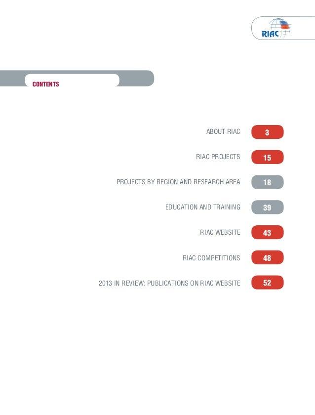 RIAC's Annual Report 2013