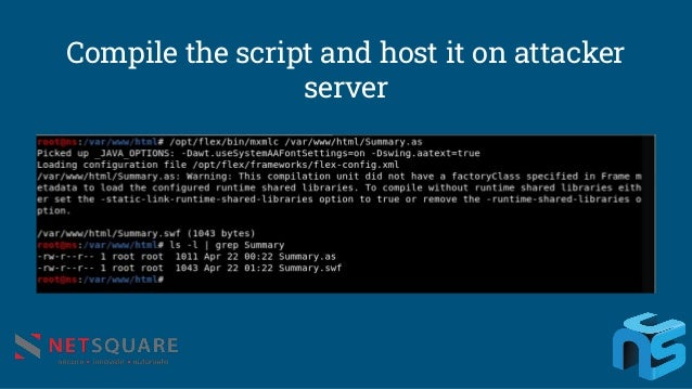 Compile the script and host it on attacker server