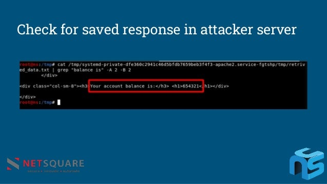 Check for saved response in attacker server