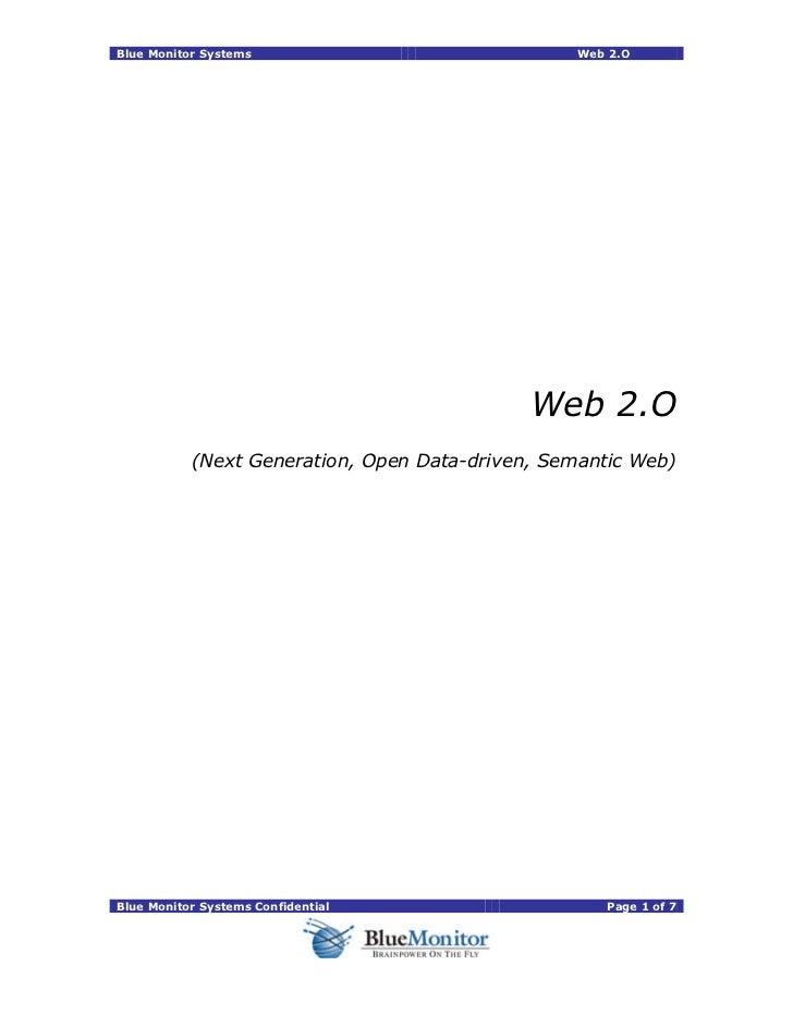 Blue Monitor Systems                             Web 2.O                                             Web 2.O           (Ne...