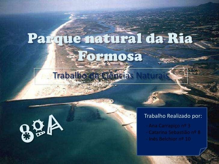 Parque natural da Ria Formosa<br />Trabalho de Ciências Naturais<br />Trabalho Realizado por:<br />8ºA<br /><ul><li> Ana C...