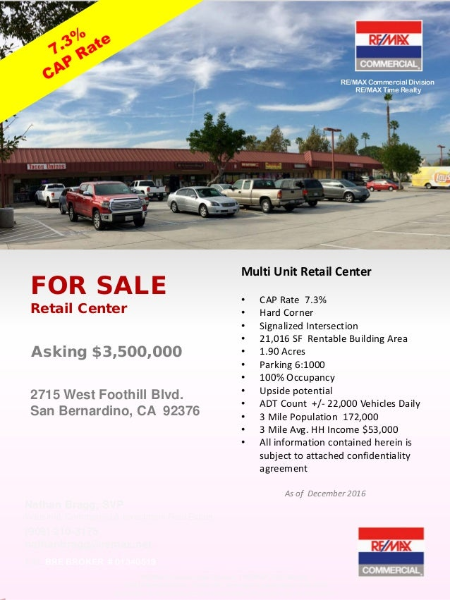 For Sale - Commercial Real Estate Retail Center - Southern California