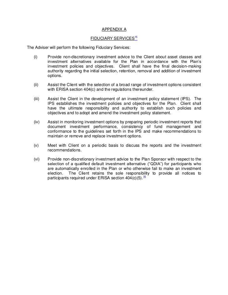 Fiduciary Agreement Form Erkalnathandedecker