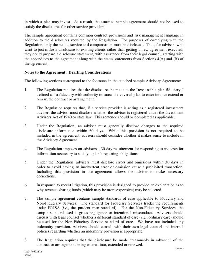 Ria Service Agreement Template B