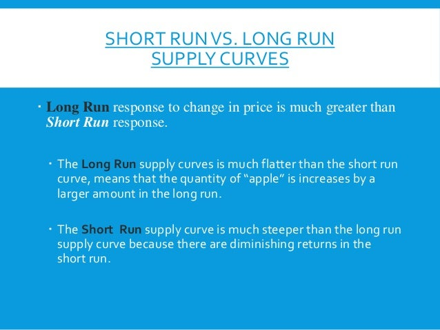 measuring short run and long run I still does not get, how the change of price does not affect the long- run  aggregate  short-run aggregate supply (sras) typically measures the  willingness and.