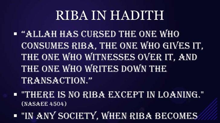 Classification of Riba in Islamic Finance