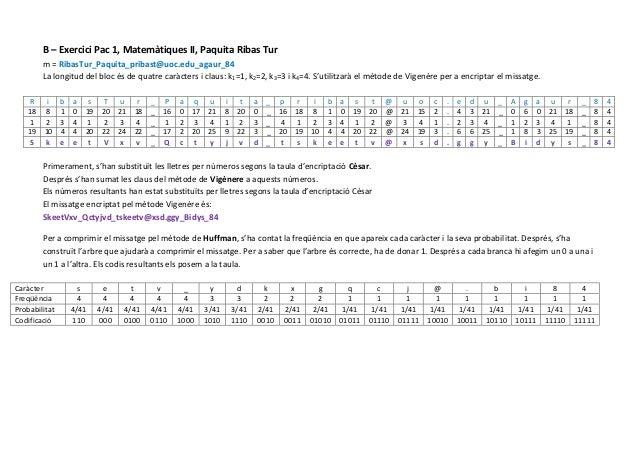 B – Exercici Pac 1, Matemàtiques II, Paquita Ribas Tur         m = RibasTur_Paquita_pribast@uoc.edu_agaur_84         La lo...