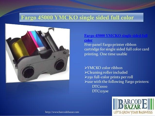 Fargo Full-Color Ribbon YMCKO 45000 for DTC1000 DTC1250e 250 prints