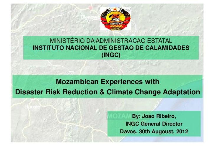 MINISTÉRIO DA ADMINISTRACAO ESTATAL    INSTITUTO NACIONAL DE GESTAO DE CALAMIDADES                         (INGC)         ...
