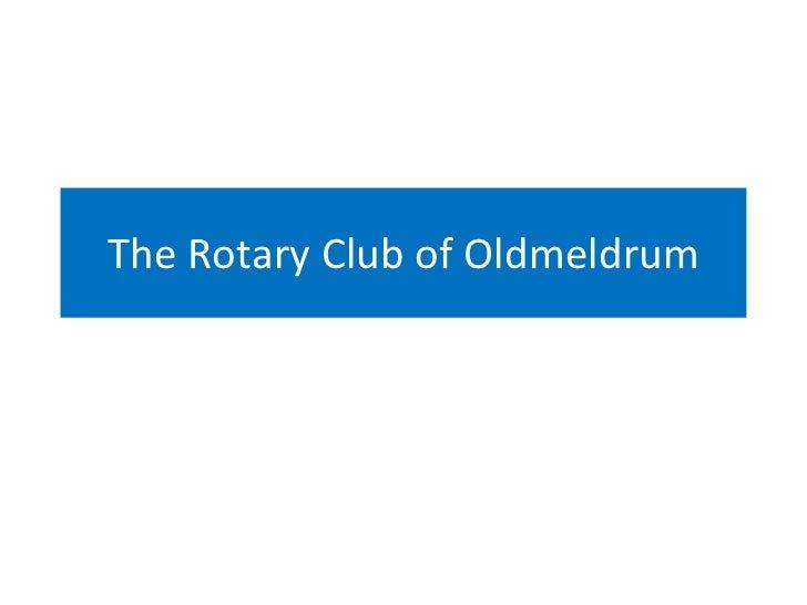 The Rotary Club of Oldmeldrum