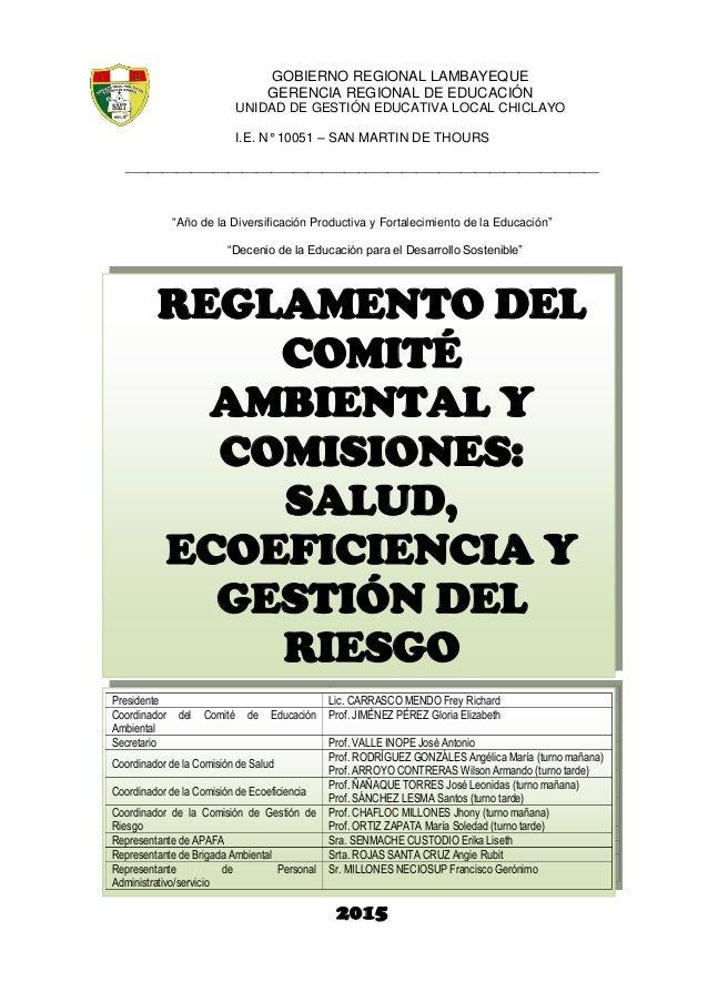 GOBIERNO REGIONAL LAMBAYEQUE GERENCIA REGIONAL DE EDUCACIÓN UNIDAD DE GESTIÓN EDUCATIVA LOCAL CHICLAYO I.E. N° 10051 – SAN...