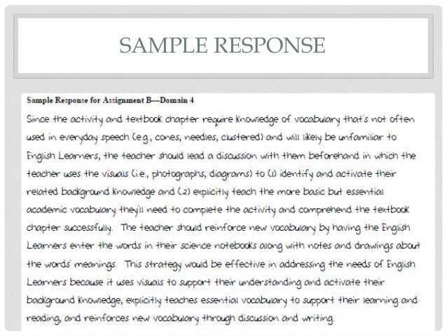 Reading Instruction Competence Assessment (RICA) Essays