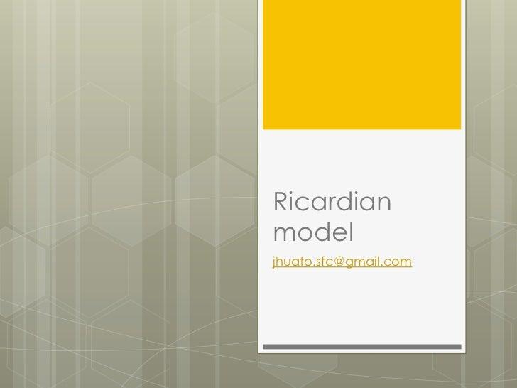 Ricardianmodeljhuato.sfc@gmail.com