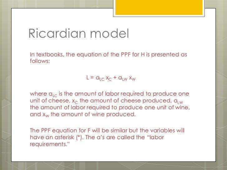 Ricardian Theorien and Model of Development Essay