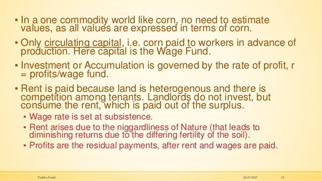 ▪ In a one commodity world like corn, no need to estimate values, as all values are expressed in terms of corn. ▪ Only cir...
