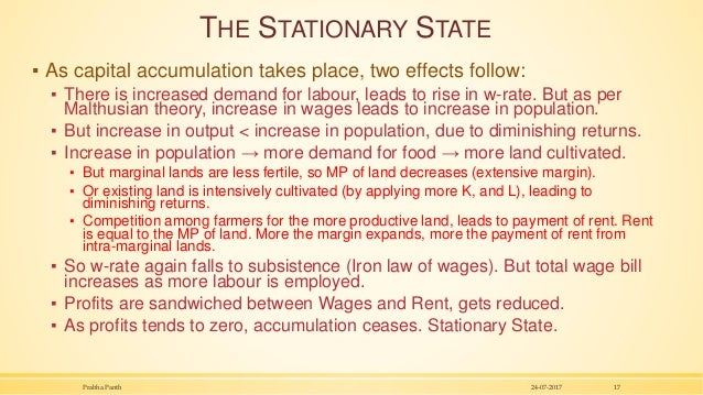 THE STATIONARY STATE ▪ As capital accumulation takes place, two effects follow: ▪ There is increased demand for labour, le...
