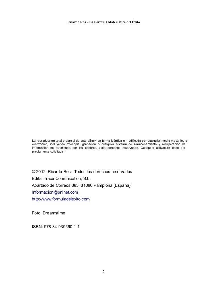 Ricardo ros-la-formula-matematica-del-exito Slide 3