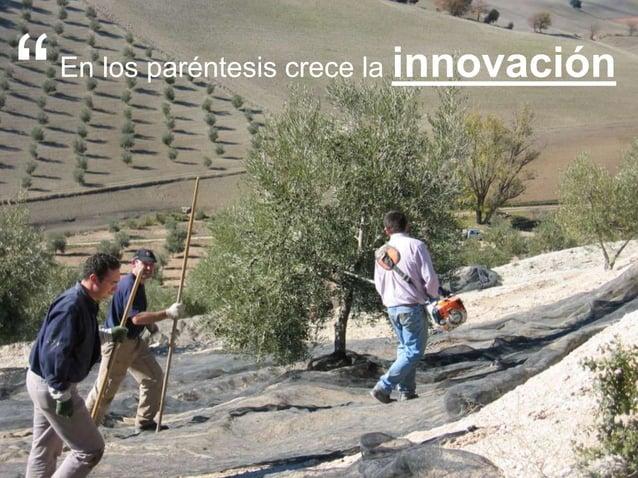 """5 >>> AGENDA En los paréntesis crece la innovación """""""