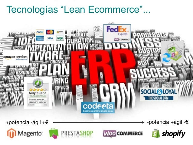 "16 >>> AGENDA Tecnologías ""Lean Ecommerce""... +potencia -ágil +€ -potencia +ágil -€"