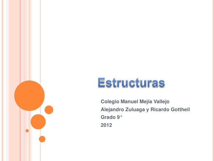 Colegio Manuel Mejía VallejoAlejandro Zuluaga y Ricardo GottheilGrado 9°2012