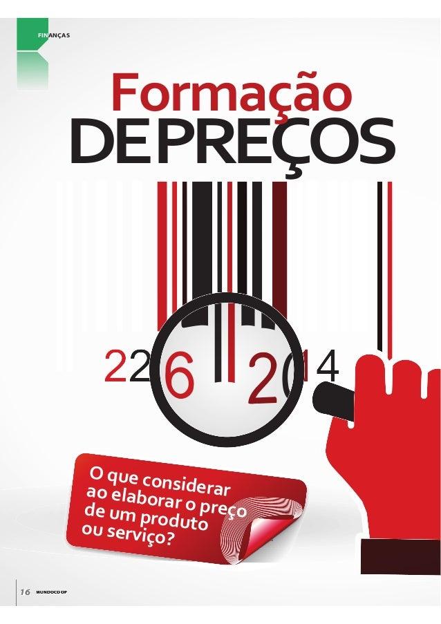 MUNDOCOOP16 MUNDOCOOP166 FINANÇAS DEPREÇOS Formação O que considerarao elaborar o preçode um produtoou serviço?