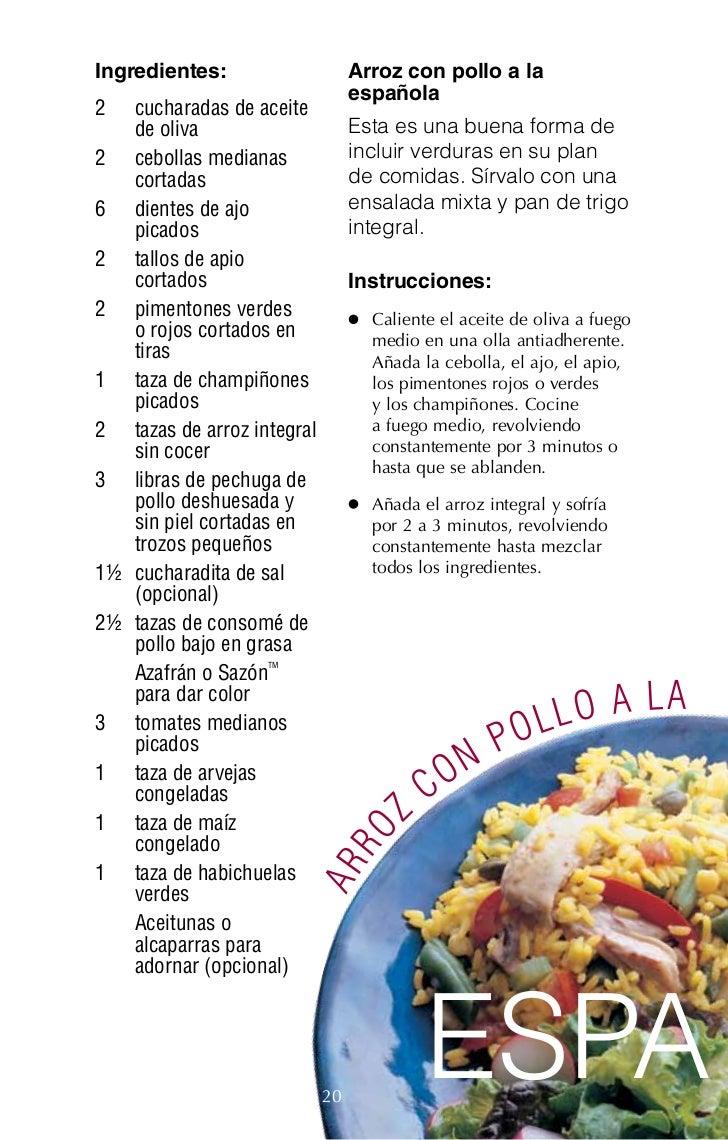 Ricas recetas para personas diabeticas