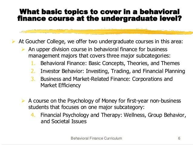 Syllabus behaviour finance
