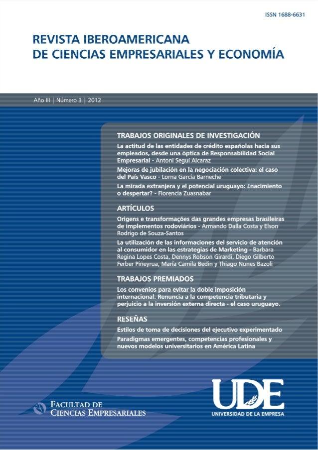 1  REVISTA IBEROAMERICANA DE CIENCIAS EMPRESARIALES Y ECONOMÍA