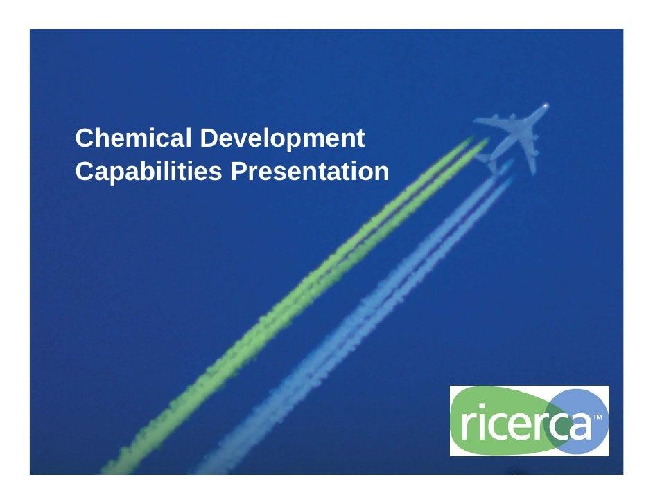 Chemical Development Capabilities Presentation