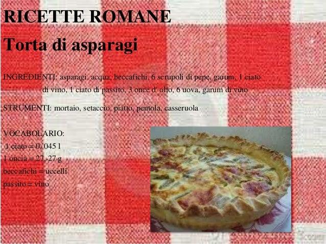 Ricette romane for Ricette romane antiche