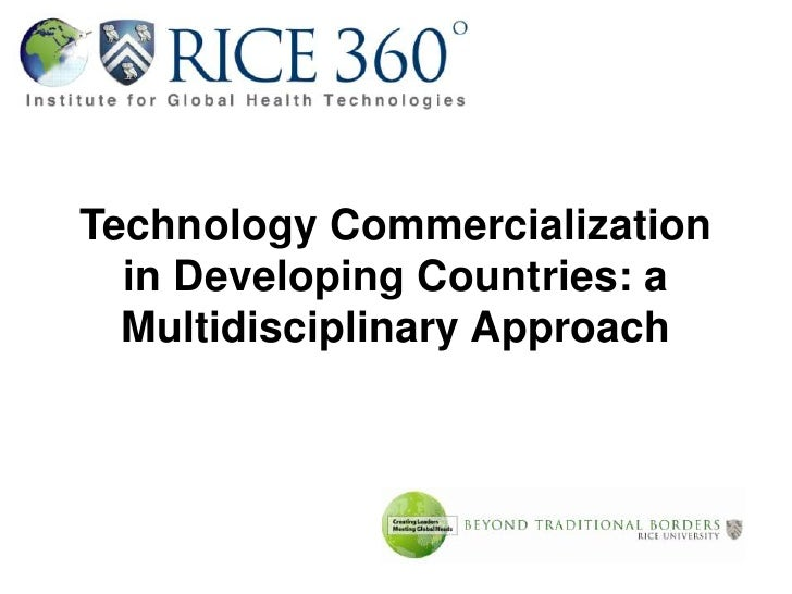 Technology Commercialization in Developing Countries: a Multidisciplinary Approach <br />