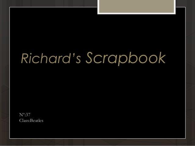 Richard's Scrapbook Nº:37 Class:Beatles