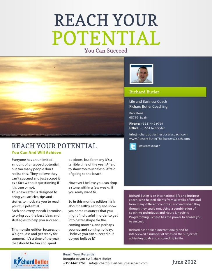 REACH YOUR                         POTENTIAL               You Can Succeed                                                ...