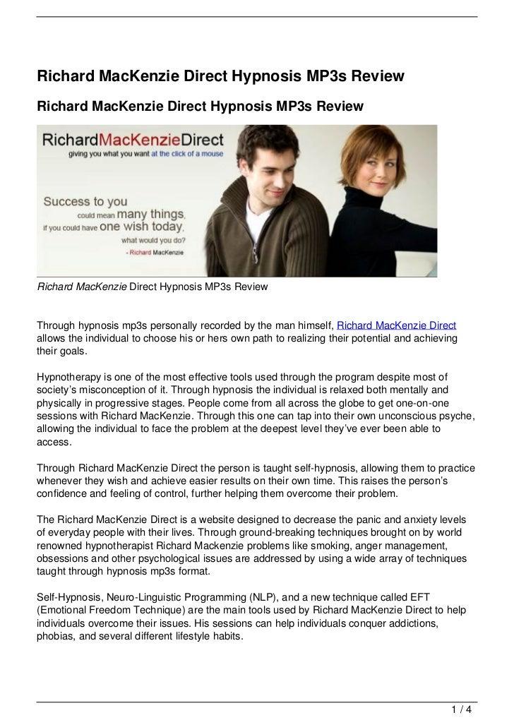 Richard MacKenzie Direct Hypnosis MP3s ReviewRichard MacKenzie Direct Hypnosis MP3s ReviewRichard MacKenzie Direct Hypnosi...