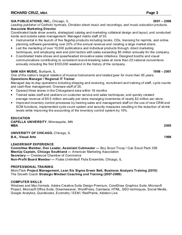rich chicago resume
