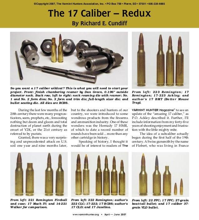 Richard cundiff 17 caliber redux