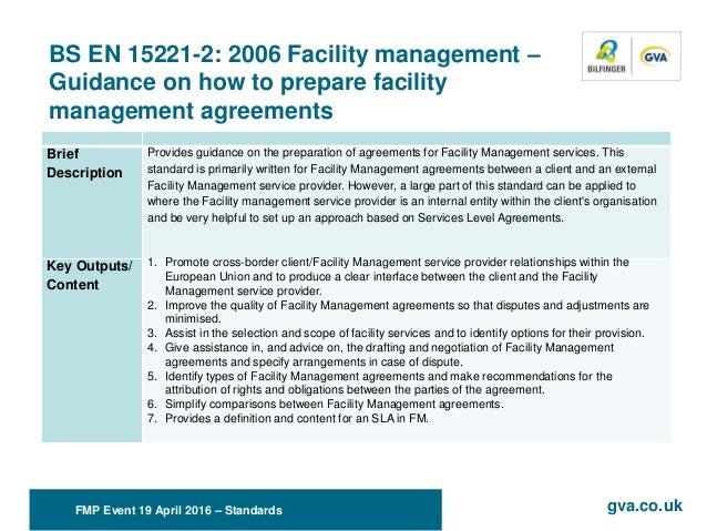Standards In Facility Management