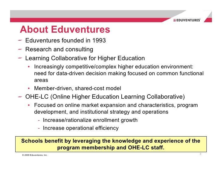 Eduventures Richard Garrett's Online Higher Education Market Update 2008 National & New York Data Slide 3