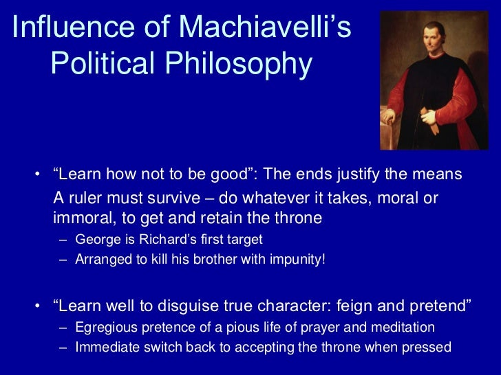 what did machiavelli mean by the Machiavelli was destined for a life of civil service, but became a victim of the times he lived in this power-player bet against the medici and paid for it for the rest of his life.