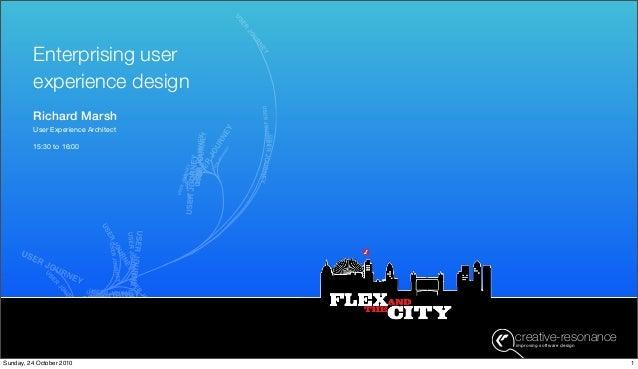 creative-resonanceimproving software design creative-resonanceimproving software design Richard Marsh User Experience Arch...